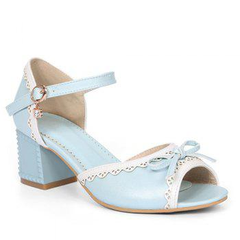 Leisure Hit Color and Bowknot Design Women's Sandals