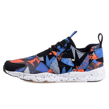 Stylish Hit Color and Breathable Design Men's Athletic Shoes - 41 41