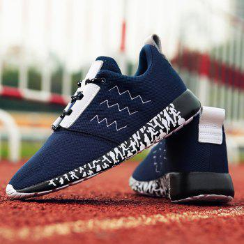 Stylish Mesh and Lacing Design Men's Athletic Shoes - 43 43