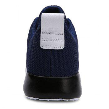 Stylish Mesh and Lacing Design Men's Athletic Shoes - DEEP BLUE DEEP BLUE