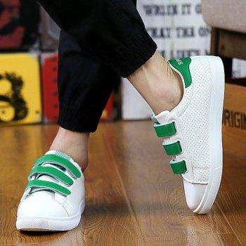 Fashionable  and Breathable Design Men's Casual Shoes - WHITE/GREEN 43