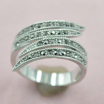 Leaf Rivet Decorated Opening Ring
