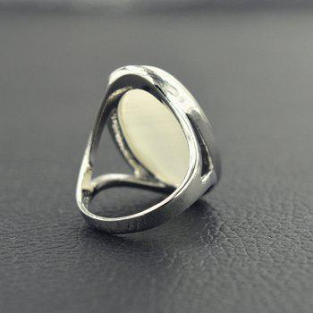 Fake Opal Decorated Ring - SILVER ONE-SIZE