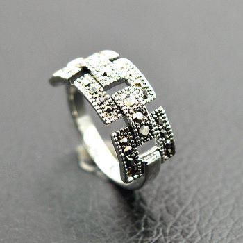 Rivet Hollowed Buckle Ring - SILVER ONE-SIZE