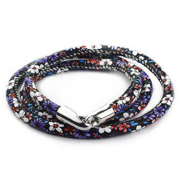 Tiny Floral Print Multilayer Wrap Bracelet