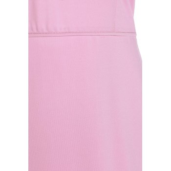 Graceful Sleeveless Stand Collar Hollow Out Pink Women's Bodycon Dress - PINK PINK