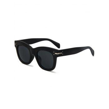 Chic Matte Black Sunglasses For Women - BLACK BLACK