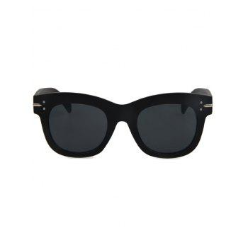 Chic Matte Black Sunglasses For Women -  BLACK