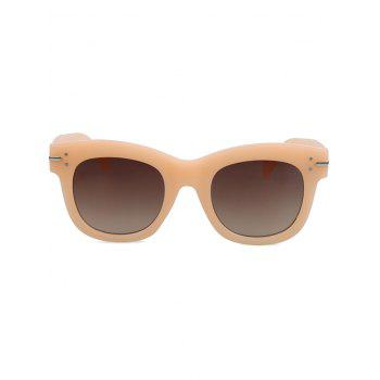 Chic Frosted Orange Sunglasses For Women - ORANGE