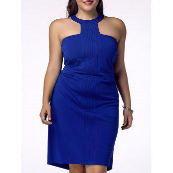 Stylish Women's Plus Size Racerfront Backless Sheath Dress