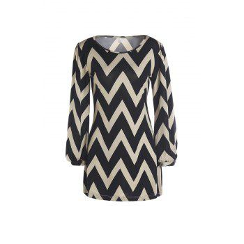 Full Sleeve Zig Zag Dress