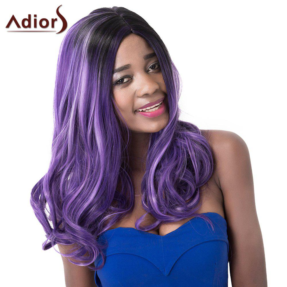 Fashion Women's Curly High Temperature Fiber Adiors Wig - COLORMIX
