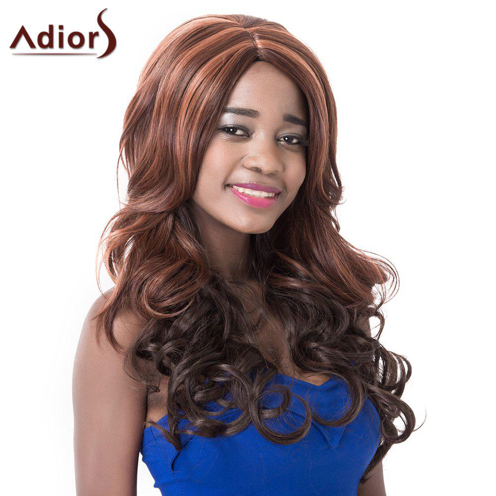 Women's Fashion High Temperature Fiber Adiors Curly Wig - COLORMIX