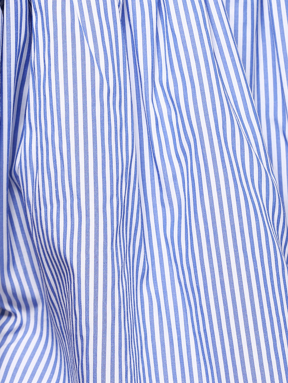 Stylish Pinstriped Off The Shoulder Blouse For Women - BLUE/WHITE S