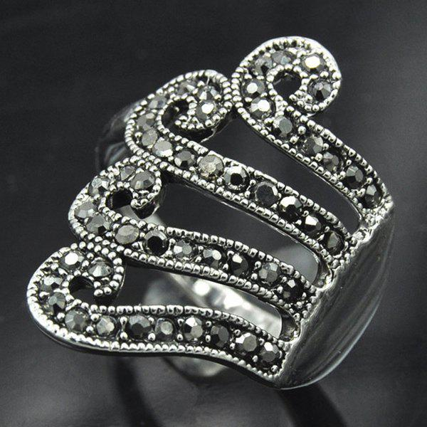 Rivet Decorated Octopus Ring - SILVER GRAY ONE-SIZE