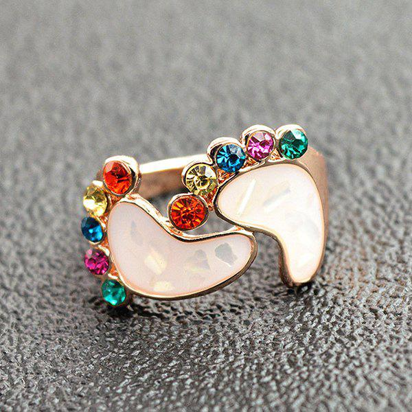 Feet Rhinestone Decorated Ring - COLORMIX ONE-SIZE