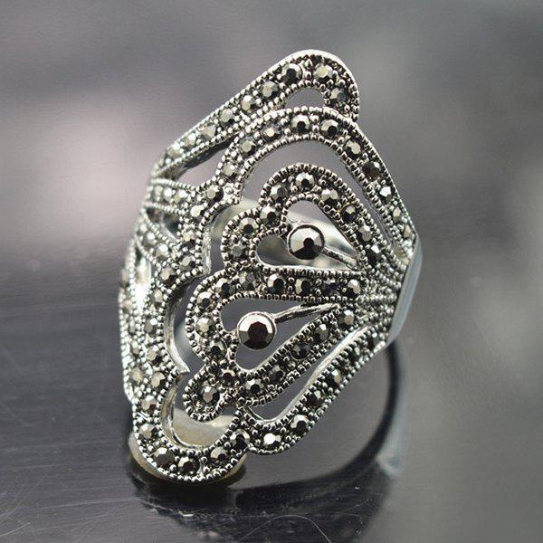 Hollowed Butterfly Ring - SILVER ONE-SIZE