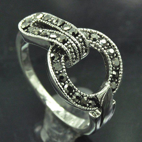 Punk Rivet Decorated Buckle Ring For Women