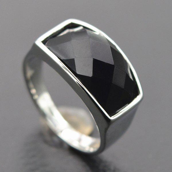 Simple Faux Gem Curved Ring For Women