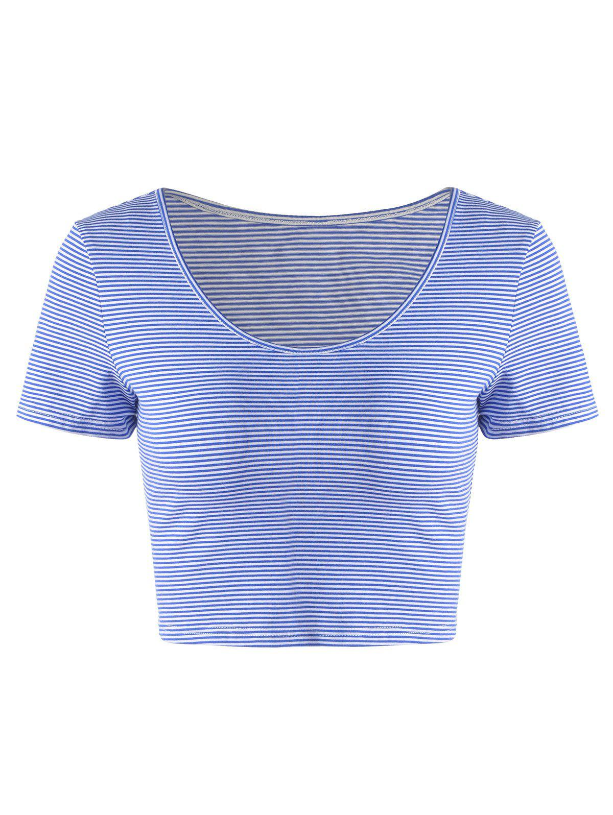 Fashionable Striped Contracted Short T For Women