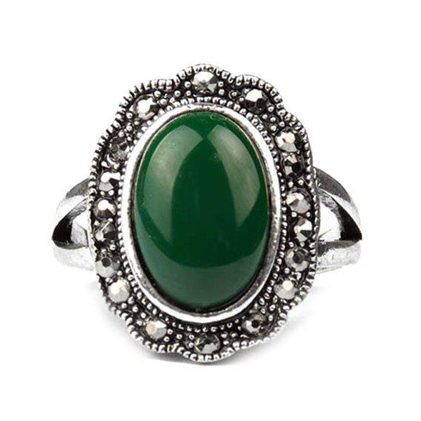 Punk Style Artificial Gemstone Ring For Men - GREEN ONE-SIZE
