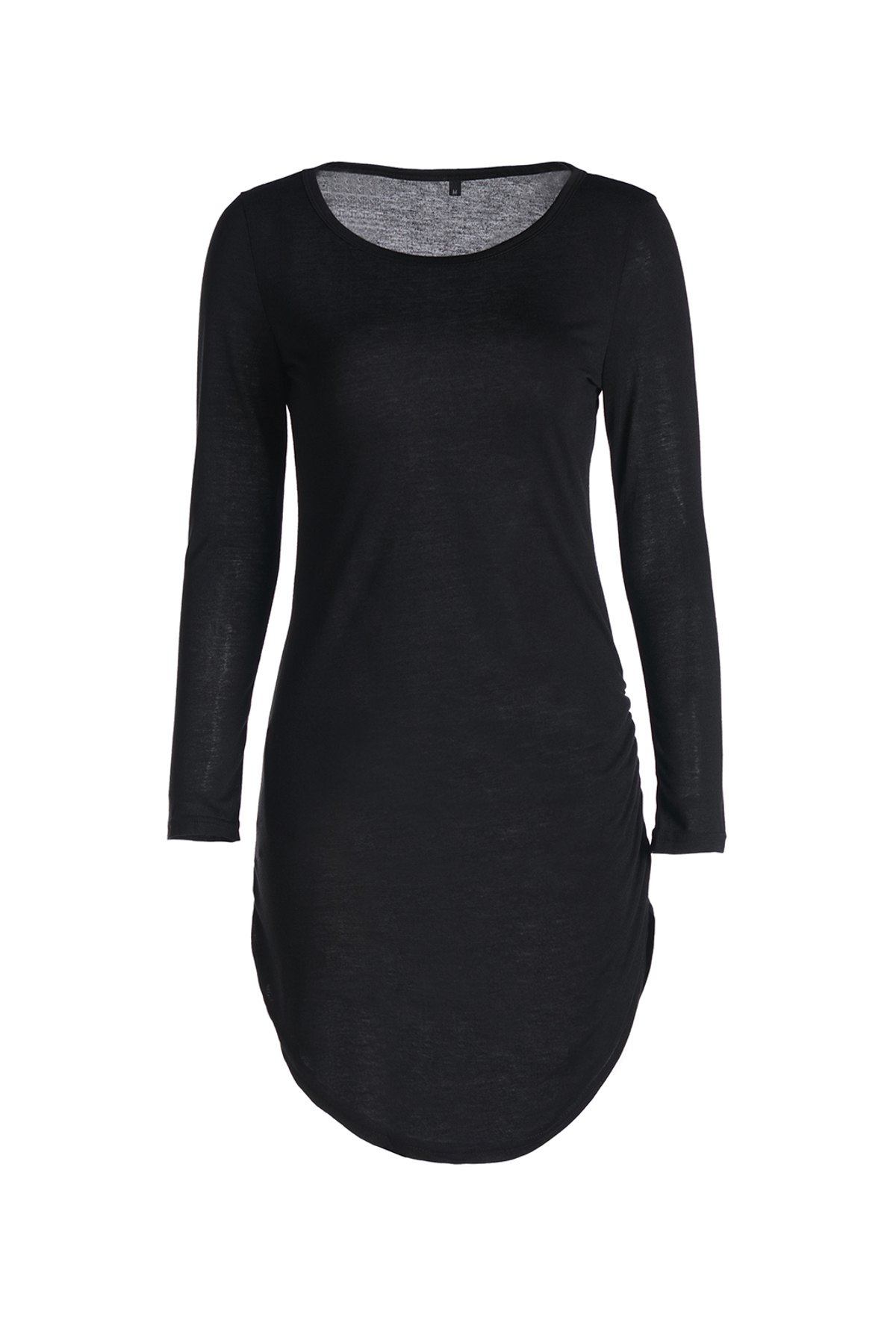 Stylish Women's Slash Neck 3/4 Sleeve Bodycon Dress - BLACK M