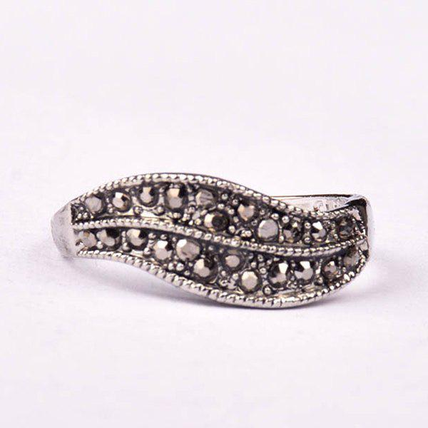 Chic Embellished Ring For Women - SILVER ONE-SIZE