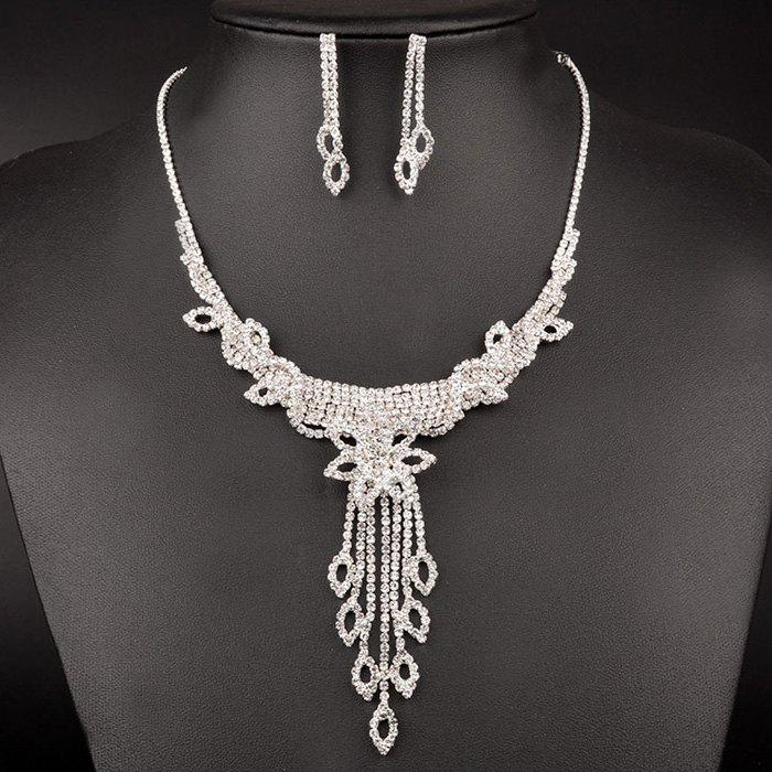 A Suit of Graceful Hollow Out Flower Wedding Jewelry Set For Women