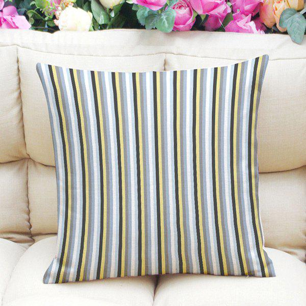 Chic Colorful Striped Pattern Square Shape Pillowcase (Without Pillow Inner) - COLORMIX