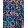 Stylish Bat Sleeve V Neck Ethnic Print Dress For Women - COLORMIX ONE SIZE(FIT SIZE XS TO M)