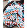 Charming High-Waisted Fringed Geometric Print Women's Bikini Set - COLORMIX 6XL