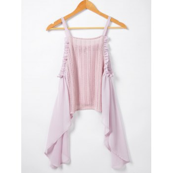 Women's Active Irregular Hem Condole Top - PINK PINK
