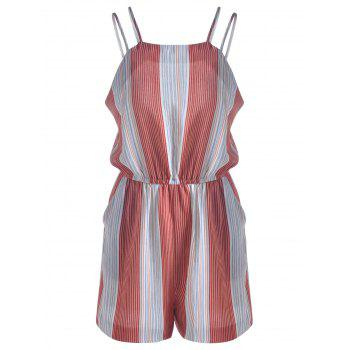 Women's Fashionable Striped Jumpsuits