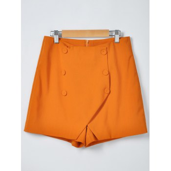 Women's Stylish Solid Color Irregular Shorts