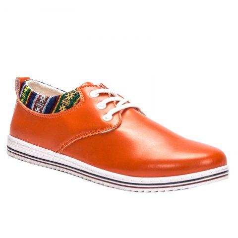 Trendy Tribal Print and Lace-Up Design Men's Casual Shoes - JACINTH 43