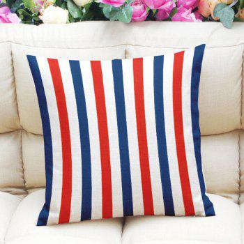 Chic Color Striped Pattern Square Shape Pillowcase (Without Pillow Inner)