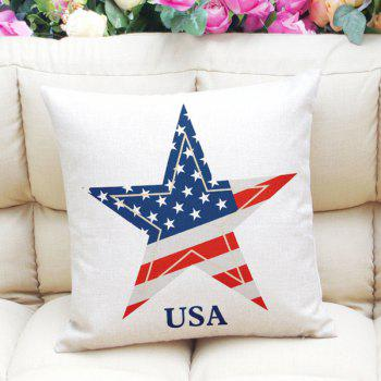 Chic The Stars and The Stripes Pattern Square Shape Pillowcase (Without Pillow Inner)