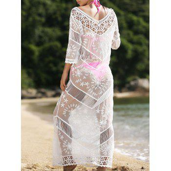Stylish Fringed V-Neck Hollow Out Women's Cover-Up