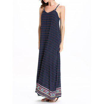 Bohemian Style Print Sleeveless Dress For Women - 2XL 2XL