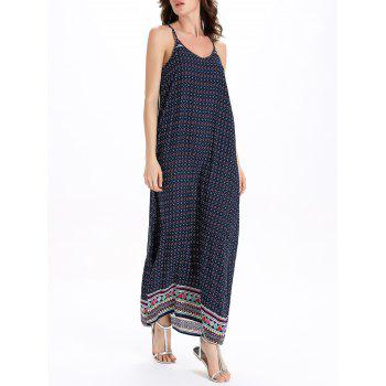 Bohemian Style Print Sleeveless Dress For Women - COLORMIX COLORMIX