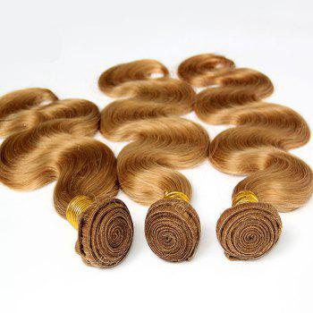 1 Pcs 7A Virgin Hair Women's Body Wave Brazil Human Hair Weave - GOLDEN BLONDE GOLDEN BLONDE