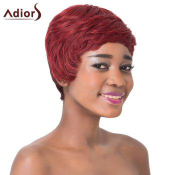 Fluffy Natural Straight Wine Red Ombre Synthetic Spiffy Short Haircut Capless Adiors Wig For Women - OMBRE