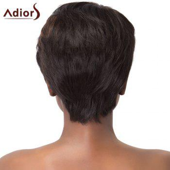 Refreshing Brown Highlight Short Synthetic Adiors Fluffy Natural Straight Capless Wig For Women - COLORMIX