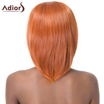 Sparkling Side Bang Medium Straight Synthetic Adiors Wig For Women - ORANGE