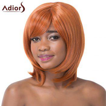 Sparkling Side Bang Medium Straight Synthetic Adiors Wig For Women