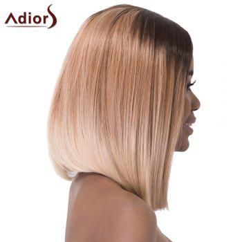 Stylish Medium Ombre Color Silky Straight Synthetic Adiors Wig For Women - COLORMIX