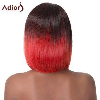 Trendy Mixed Color Medium Straight Capless Synthetic Adiors Wig For Women - COLORMIX