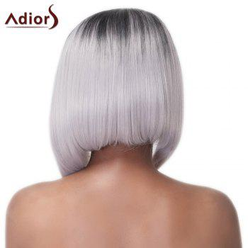 Prevailing Asymmetry Hair Medium Straight Mixed Color Women's Synthetic Adiors Wig - COLORMIX