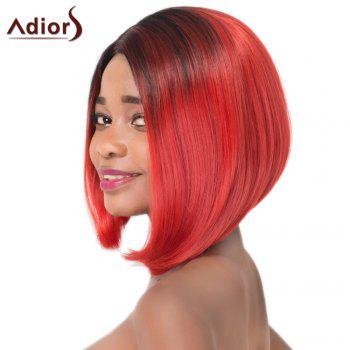 Vogue Synthetic Medium Straight Asymmetry Hair Mixed Color Women's Adiors Wig - COLORMIX
