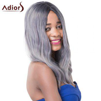 Fluffy Medium Wave Centre Parting Chic Mixed Color Synthetic Capless Adiors Wig For Women - COLORMIX